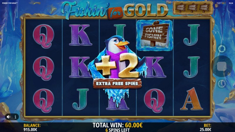 Fishin for Gold :: Extra spins awarded