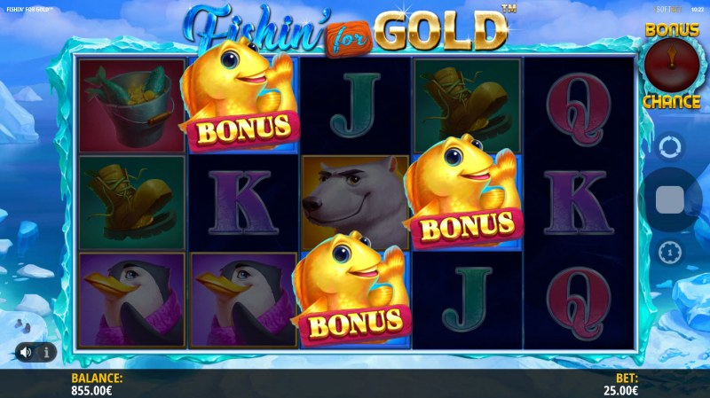 Fishin for Gold :: Scatter symbols triggers the free spins feature