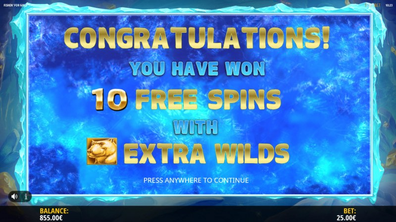 Fishin for Gold :: 10 Free Spins Awarded