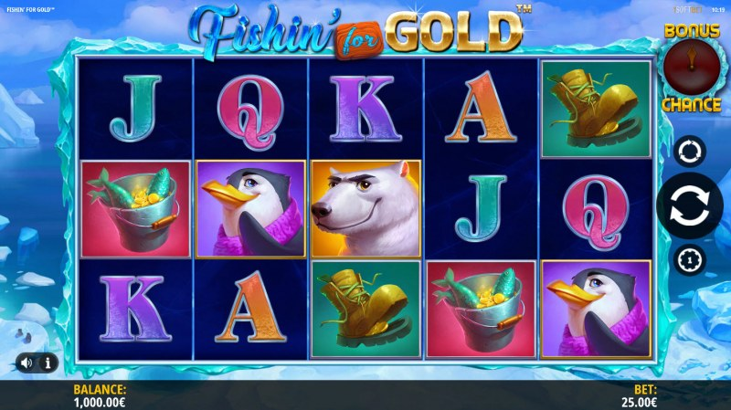 Play slots at Joe Fortune: Joe Fortune featuring the Video Slots Fishin for Gold with a maximum payout of $125,000