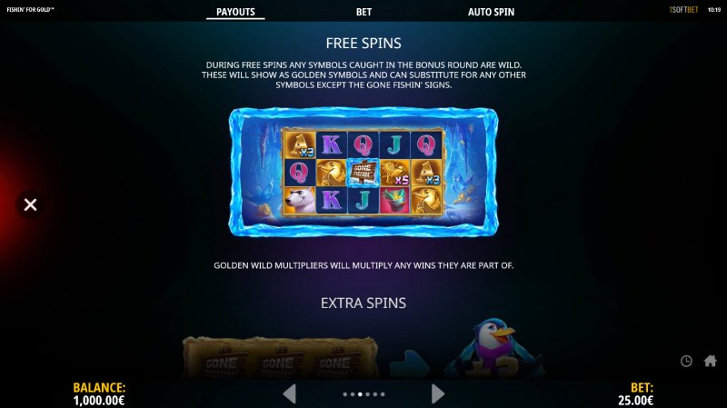 Fishin for Gold :: Free Spins Rules