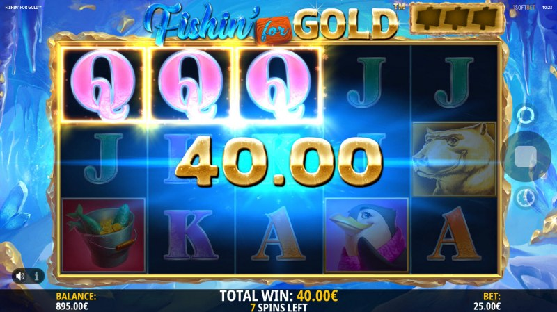 Fishin for Gold :: Free Spins Game Board