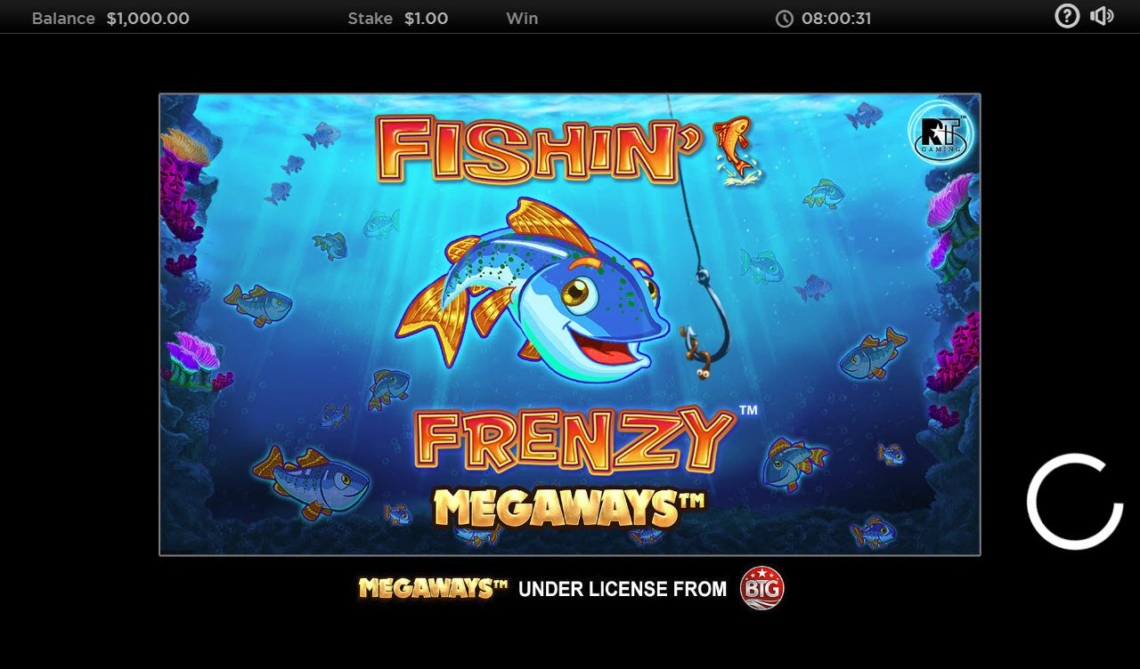 Play slots at Slotman: Slotman featuring the Video Slots Fishin' Frenzy Megaways with a maximum payout of $250,000