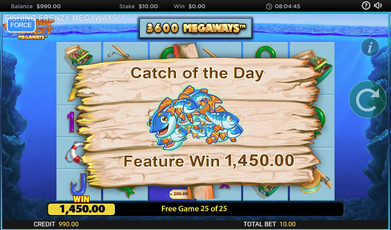 Fishin' Frenzy Megaways :: Total free spins payout