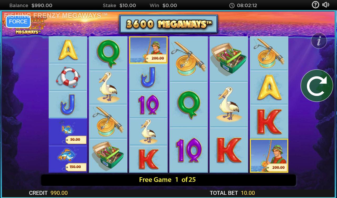 Fishin' Frenzy Megaways :: Free Spins Game Board