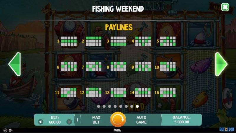 Fishing Weekend :: Paylines 1-15