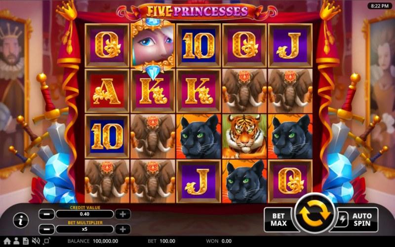 Five Princesses :: Main Game Board