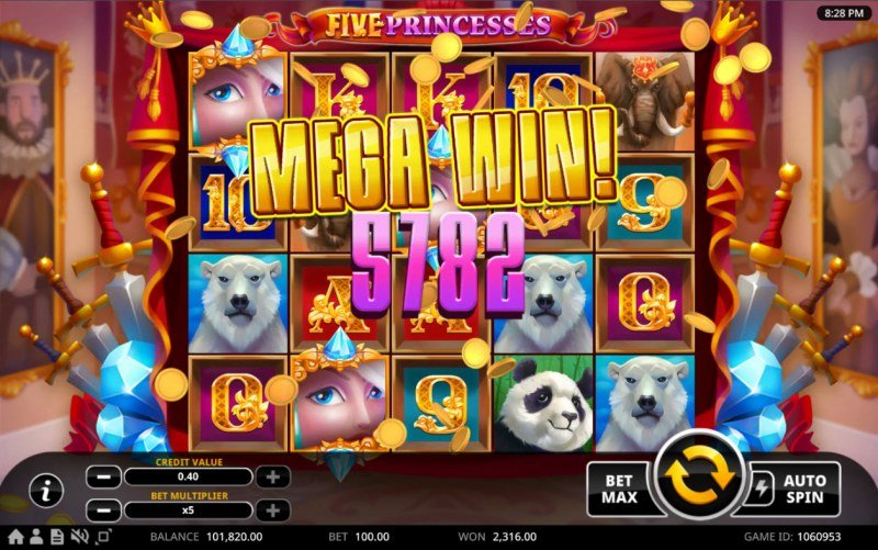 Five Princesses :: Total Free Spins Payout