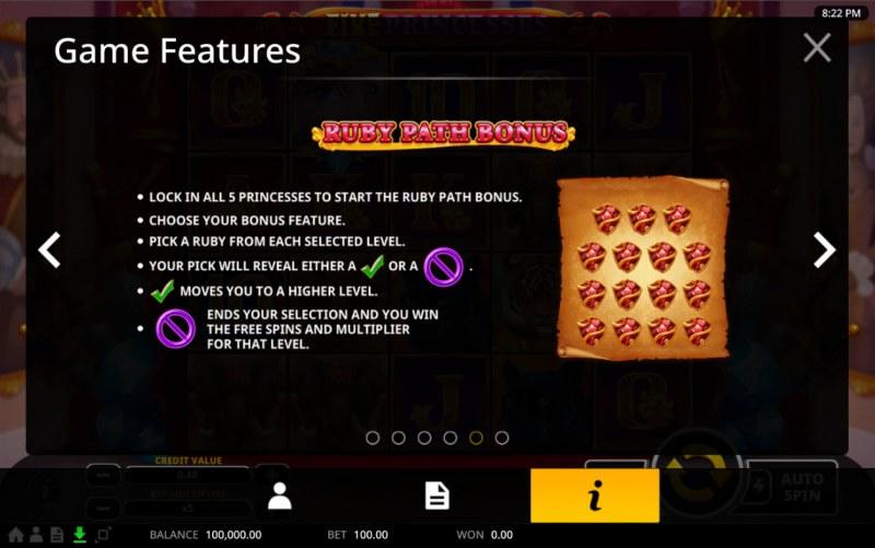 Five Princesses :: Ruby Path Bonus