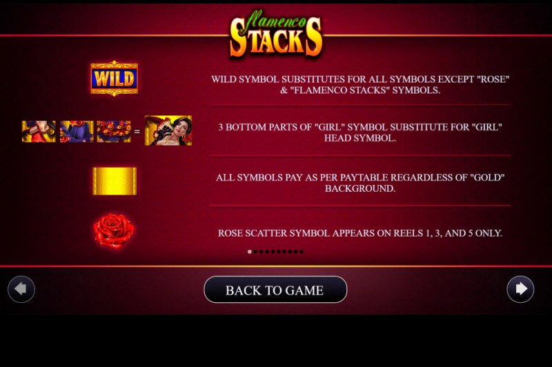 Flamenco Stacks :: Wild and Scatter Rules