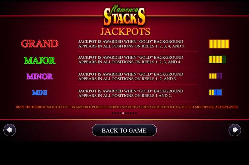 Flamenco Stacks :: Jackpots