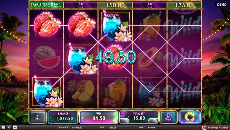 Flamingo Paradise :: Multiple winning paylines