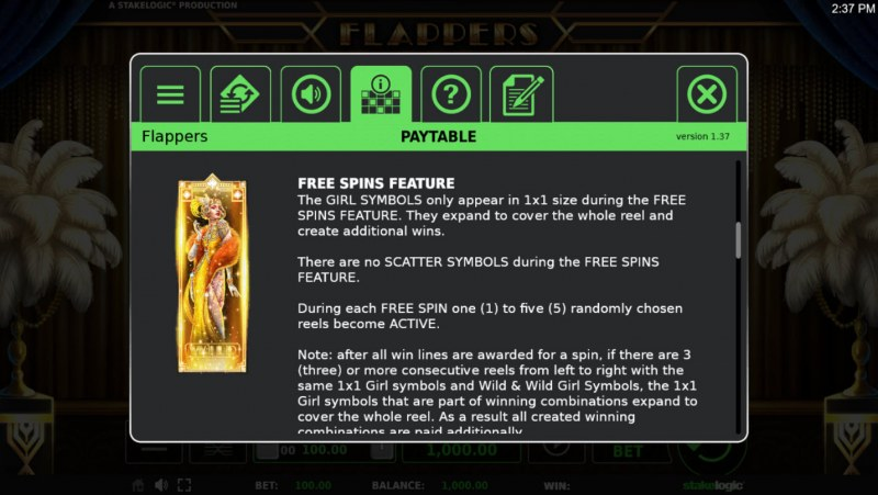 Flappers :: Free Spins Rules