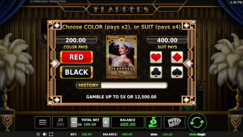 Flappers :: Gamble Feature Game Board