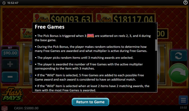 Flash Pays :: Free Game Rules