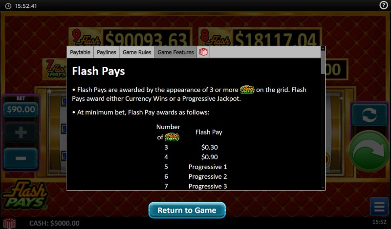 Flash Pays :: Feature Rules