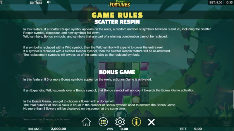 Flower Fortunes Megaways :: Feature Rules