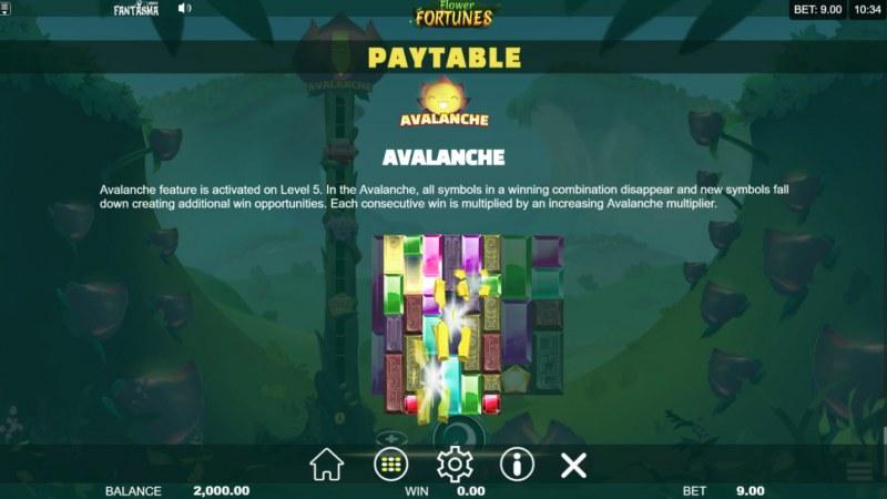 Flower Fortunes Megaways :: Avalanche Feature