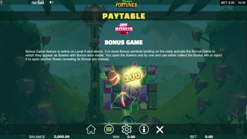 Flower Fortunes Megaways :: Bonus Game Rules