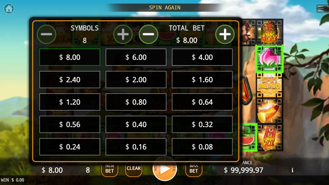Flowers and Fruit Mountain :: Available Betting Options
