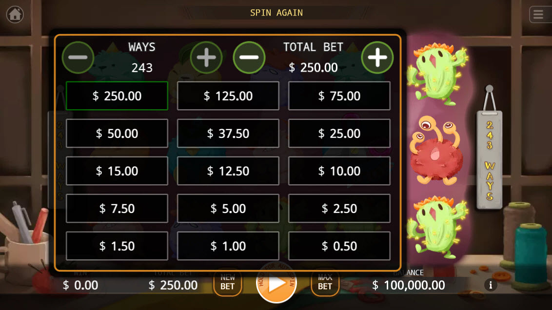Fluffy Buddy :: Available Betting Options