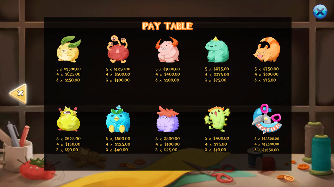 Fluffy Buddy :: Paytable
