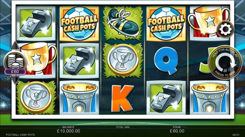 Football Cash Pots :: Base Game Screen
