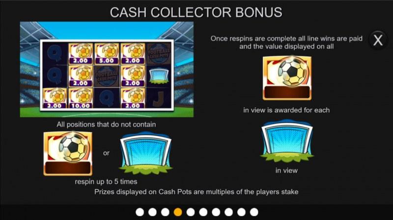 Football Cash Pots :: Cash Collection Bonus