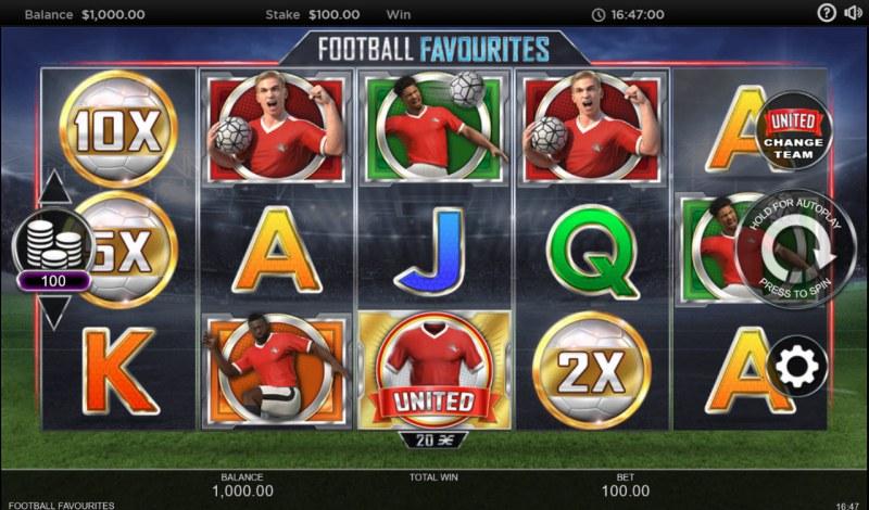 Football Favourites :: Main Game Board