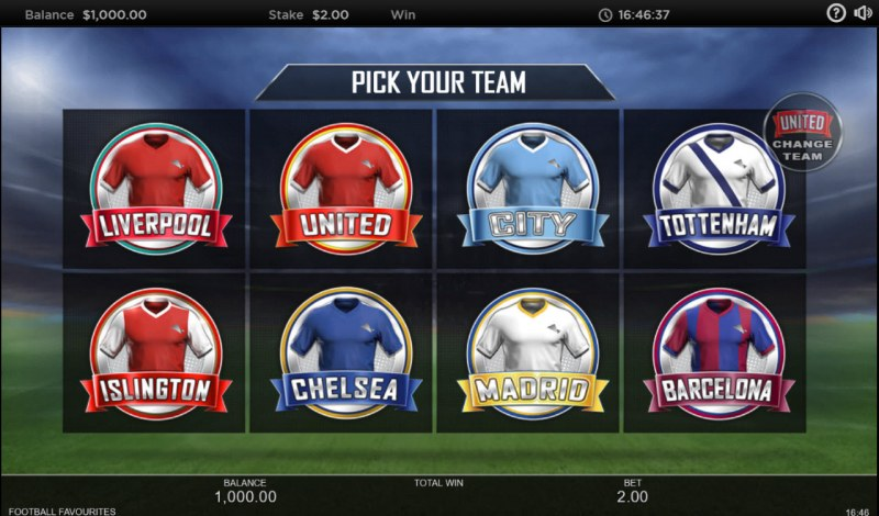 Football Favourites :: Pick Your Team