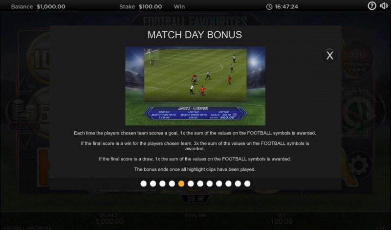 Football Favourites :: Bonus Game Rules