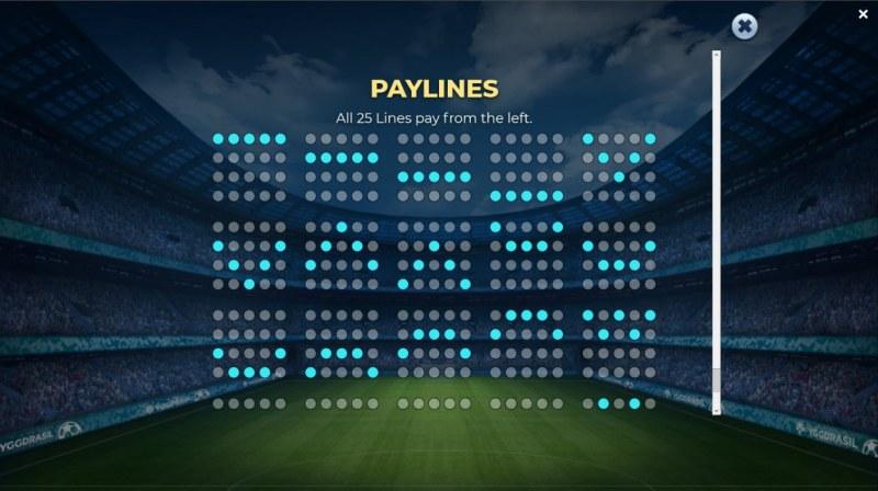 Football Glory :: Paylines
