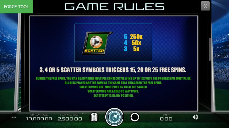 Football Pro :: Scatter Symbol Rules