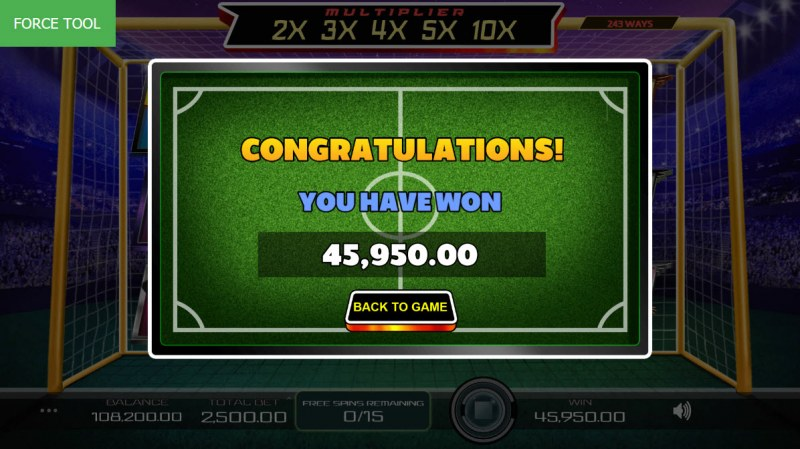Football Pro :: Total free spins payout