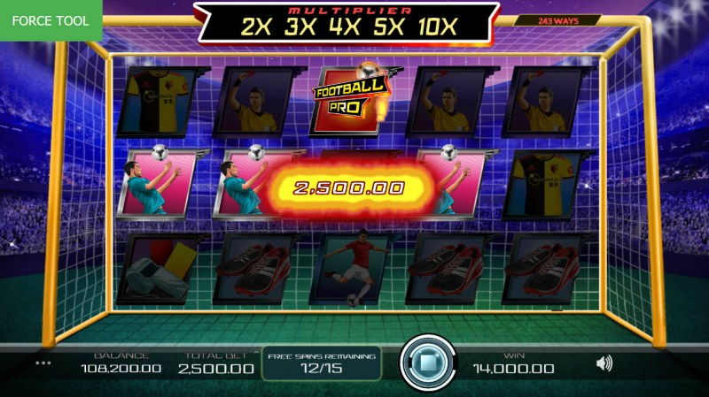 Football Pro :: Free Spins Game Board