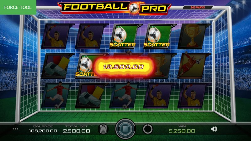 Football Pro :: Scatter symbols triggers the free spins feature