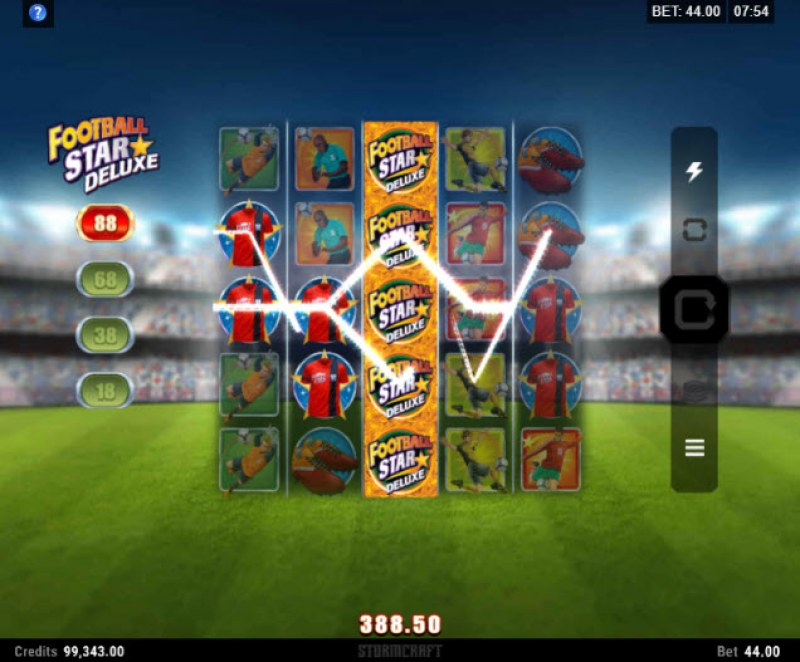 Football Star Deluxe :: Multiple winning paylines