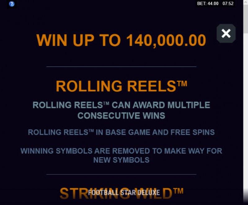 Football Star Deluxe :: Rolling Reels
