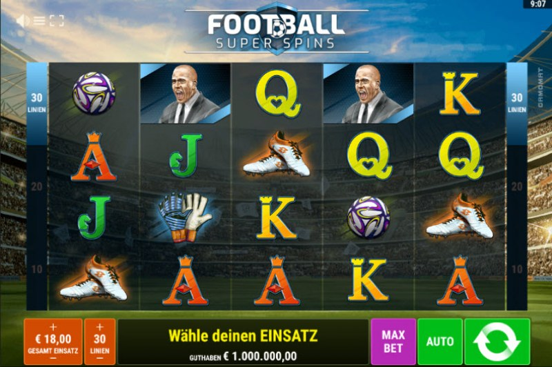 Football Super Spins :: Main Game Board