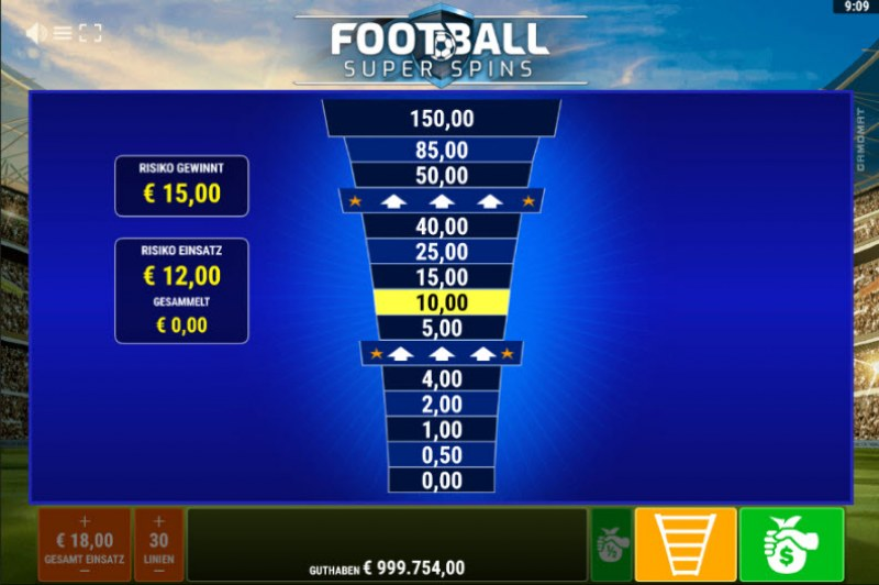 Football Super Spins :: Ladder Gamble Feature