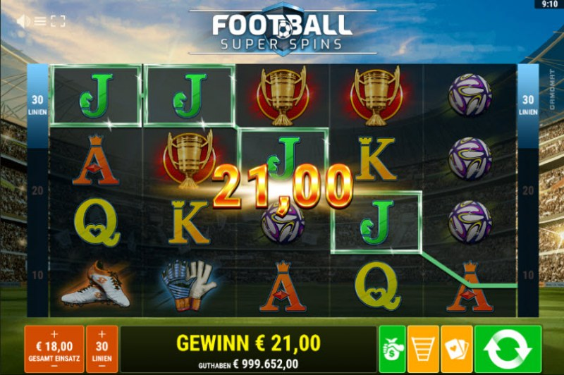 Football Super Spins :: Four of a kind