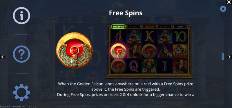Force of the Gods :: Free Spin Feature Rules