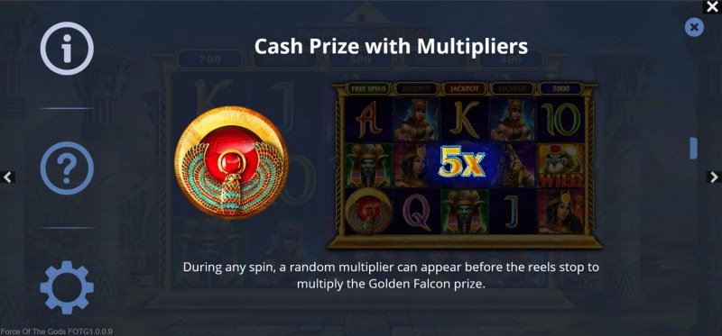 Force of the Gods :: Cash Prize with Multipliers