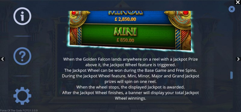 Force of the Gods :: Jackpot Rules