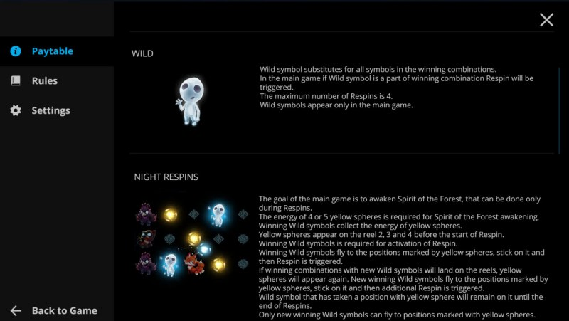 Forest Dreams :: Wild Symbol Rules