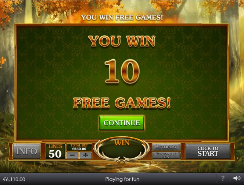 Forest Prince :: 10 free spins awarded