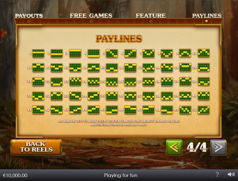 Forest Prince :: Paylines 1-50