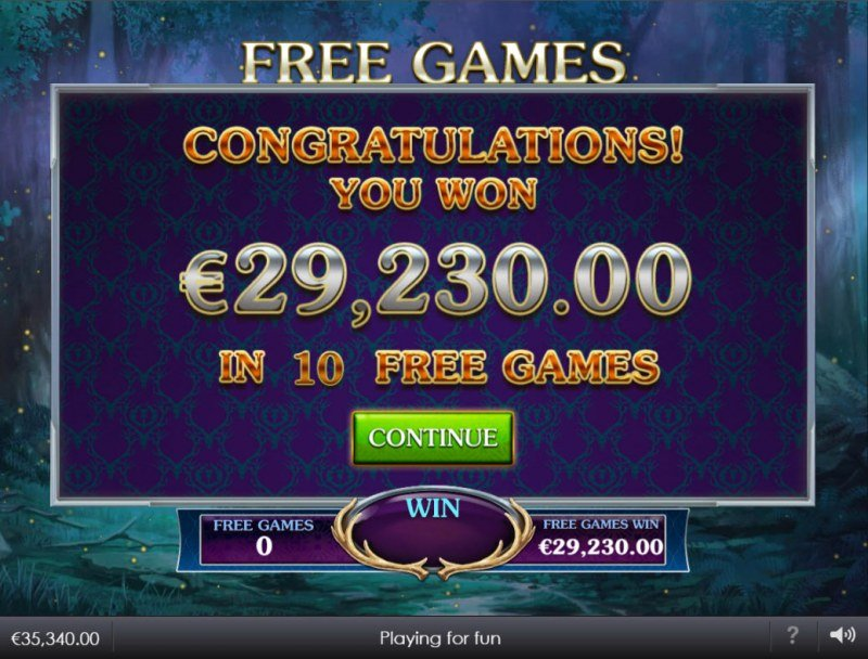 Forest Prince :: Total Free Spins Payout