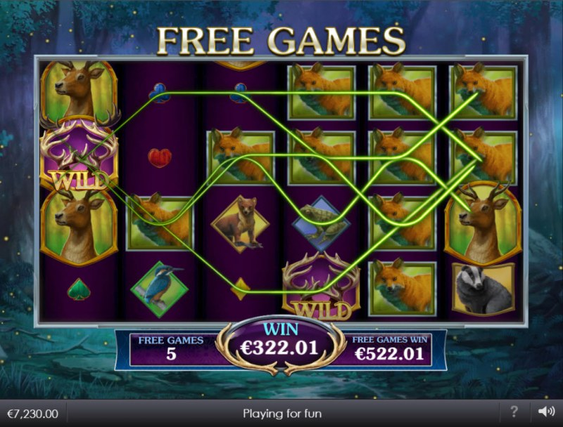 Forest Prince :: Multiple winning paylines