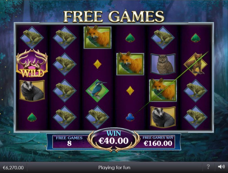 Forest Prince :: Free Spins Game Board